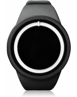 Czarny wodoodporny zegarek srebrny Ziiiro