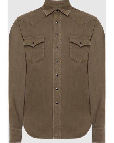 Зеленая джинсовая рубашка Saint Laurent