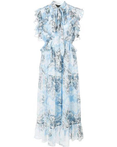 Приталенное расклешенное платье миди Robert Rodriguez Studio