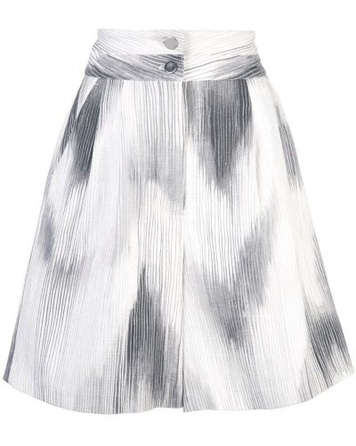 Однобортные белые шорты с карманами Josie Natori