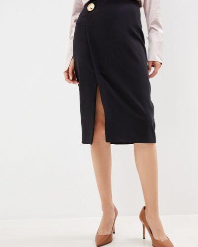 Черная прямая юбка карандаш Cavalli Class