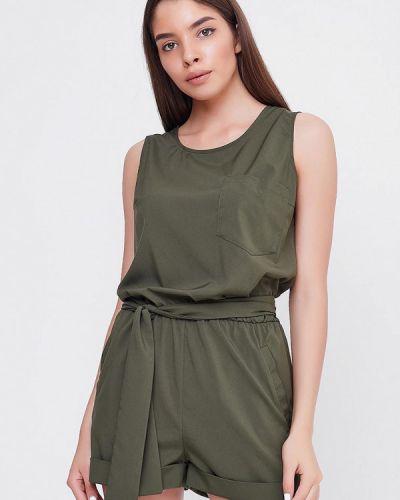 Комбинезон с шортами зеленый хаки Sfn