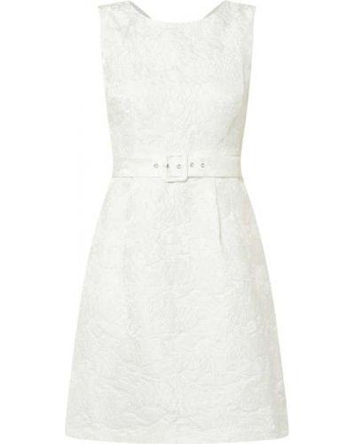 Biała sukienka koktajlowa rozkloszowana Apart Glamour