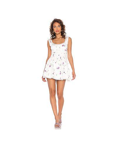 Платье с завязками For Love & Lemons