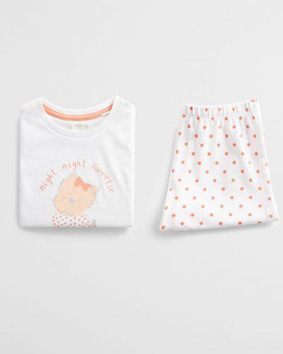 Пижама белая Mango Kids