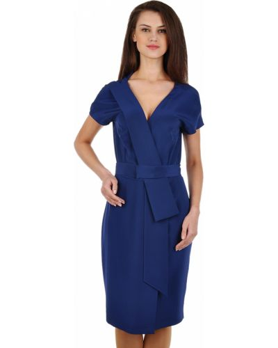 Шелковое платье - синее Agnona