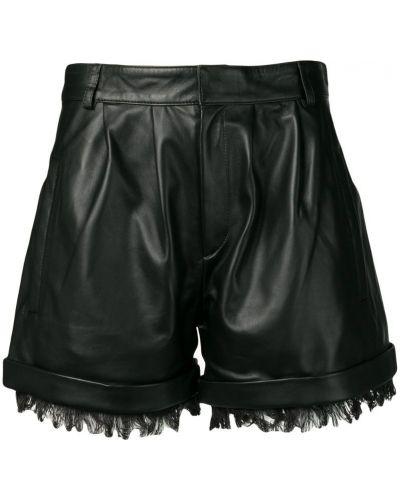 Черные шорты с карманами на пуговицах Federica Tosi