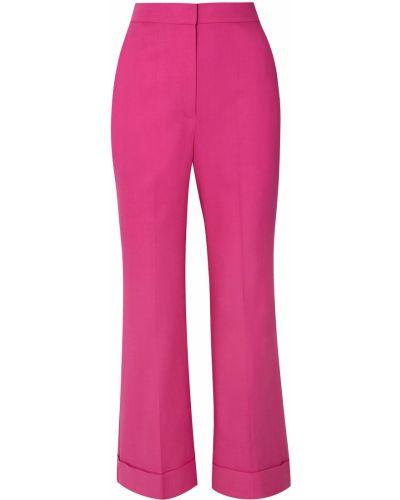 Różowe spodnie bawełniane Roksanda