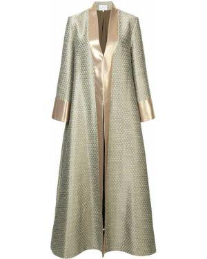 Акриловое коралловое длинное пальто Layeur