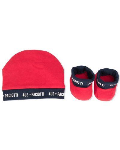 Хлопковая красная шапка бини Cesare Paciotti 4us Kids
