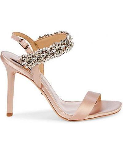 Открытые кожаные сандалии на каблуке Badgley Mischka