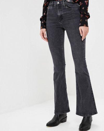 Широкие джинсы расклешенные серые Topshop