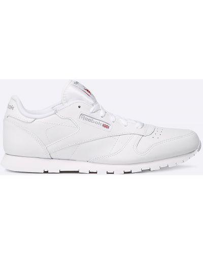 Белые кроссовки текстильные Reebok