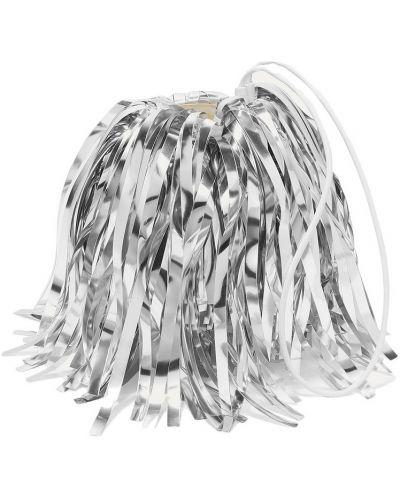 Biała kopertówka srebrna Off-white