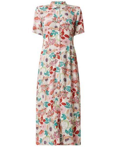 Sukienka midi z wiskozy - biała Esprit