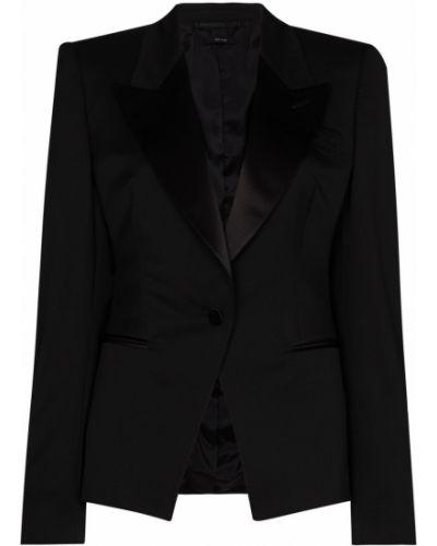 Шерстяной черный смокинг на пуговицах Tom Ford