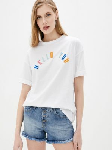 Футбольная белая футболка Rock Angel