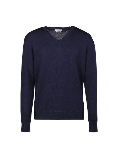 Niebieski sweter z dekoltem w serek Ballantyne