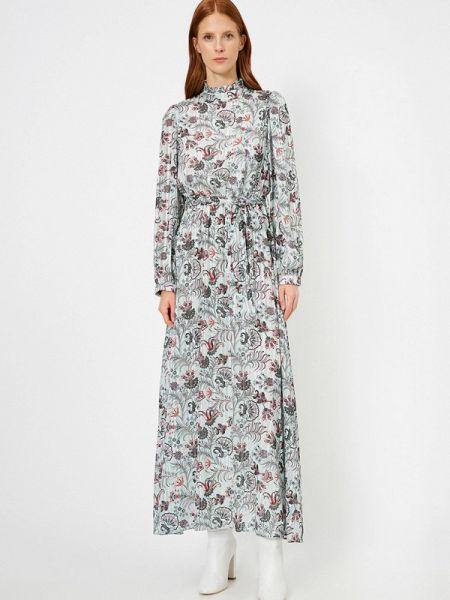 Бирюзовое платье Koton