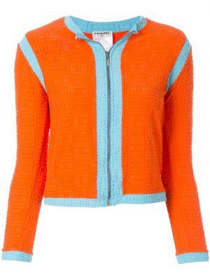 Нейлоновая оранжевая спортивная куртка на молнии Chanel Pre-owned