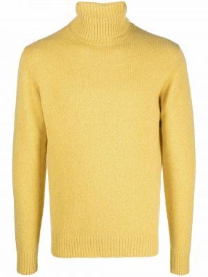 Sweter wełniany - żółty Roberto Collina