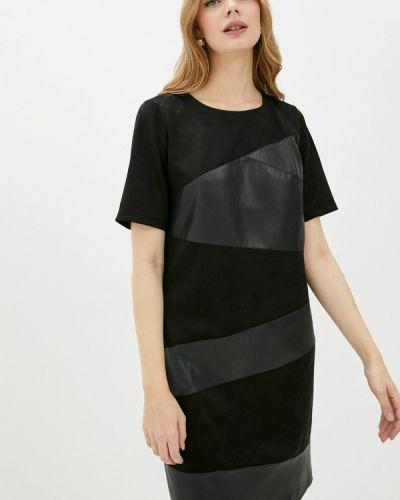Кожаное платье - черное Mankato