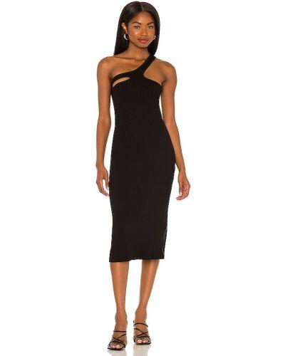 Черное трикотажное платье Lna