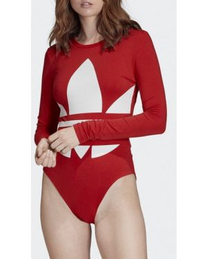 Красное боди оверсайз Adidas Originals