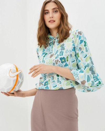 Бирюзовая блузка с рюшами Vittoria Vicci