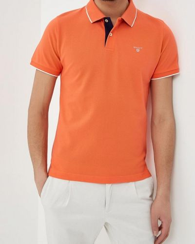 Оранжевое поло Gant