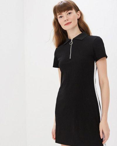 Платье футболка черное Modis