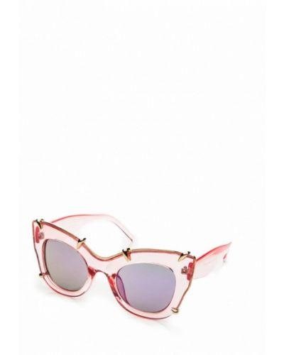 Солнцезащитные очки кошачий глаз розовый Gepur