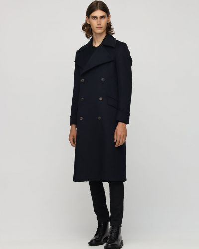 Płaszcz wełniany Bottega Martinese