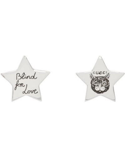 Kolczyki pierścionki kolczyki ze sztyftem ze srebra Gucci