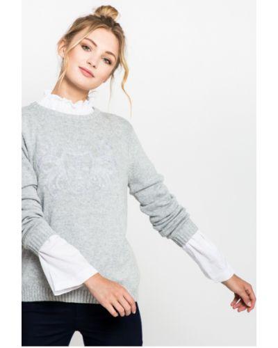 Вязаный свитер трикотажный с вырезом Medicine