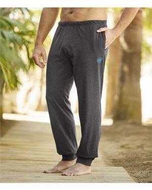 Хлопковые серые домашние брюки с карманами для бега Atlas For Men