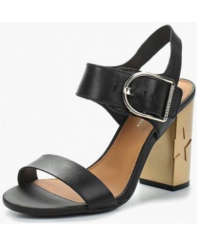 Черные босоножки на каблуке Tommy Hilfiger