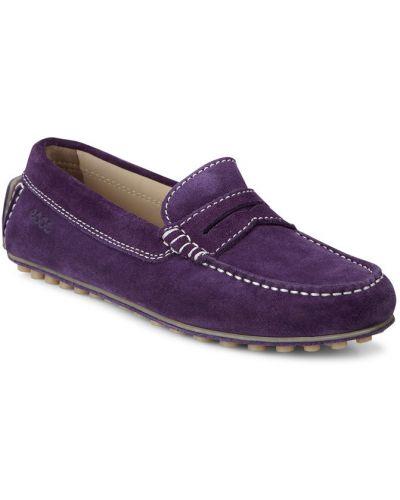 Мокасины кожаные фиолетовый Ecco