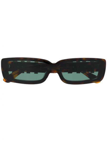 Прямые муслиновые желтые солнцезащитные очки прямоугольные Han Kjøbenhavn