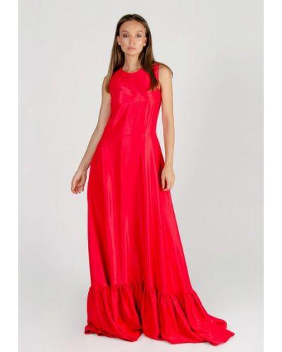 Вечернее платье осеннее красный Kriza