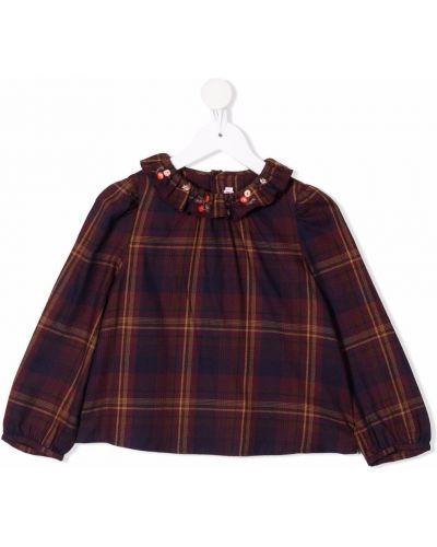 Fioletowa koszula z długimi rękawami Bonpoint