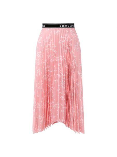 Плиссированная розовая плиссированная юбка с подкладкой Markus Lupfer