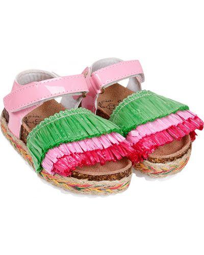 Пляжные кожаные розовые босоножки Colors Of California