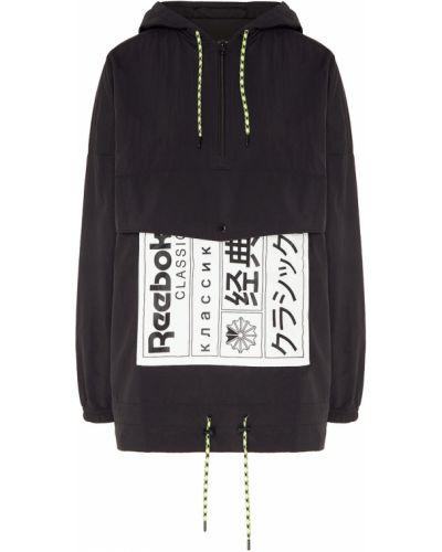 Куртка с капюшоном черная классическая Reebok