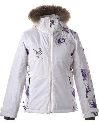 Флисовая куртка - белая Huppa
