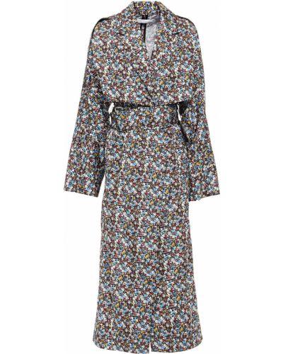 Текстильное черное пальто с карманами Victoria Beckham