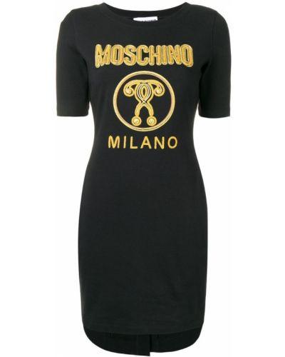 Платье мини в рубчик платье-толстовка Moschino