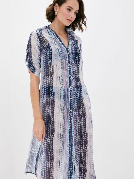 Пляжное синее платье Phax