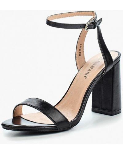 Черные босоножки на каблуке Tulipano