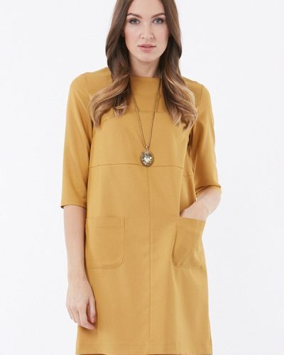 Желтое платье весеннее Vladi Collection
